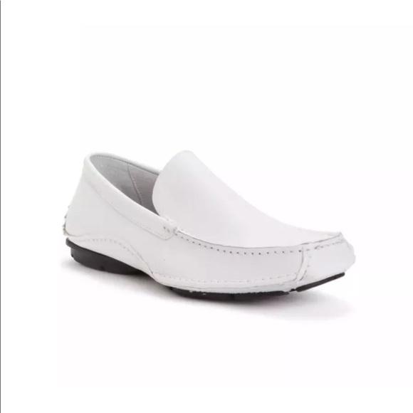 b0d8954c8c7 Men's Steve Madden Novo White Leather Loafers